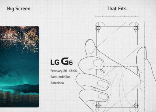 LG Invitation G6 26 Fevrier 2017