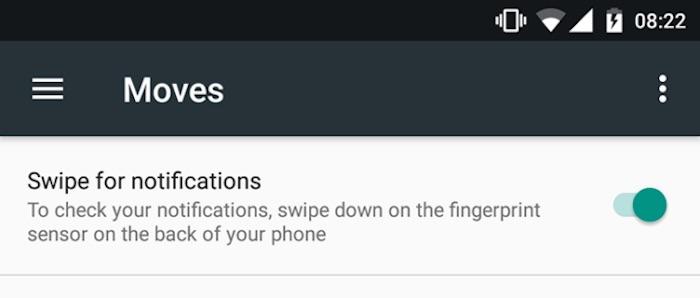 Nexus 5X Android 7.1.2 Gestuelle