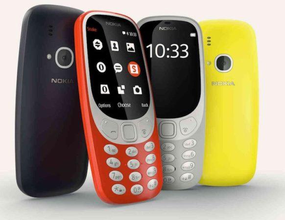 Nokia 3310 2017 Couleurs 582x450