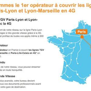 Orange assure désormais une couverture 4G sur la ligne TGV Paris-Marseille