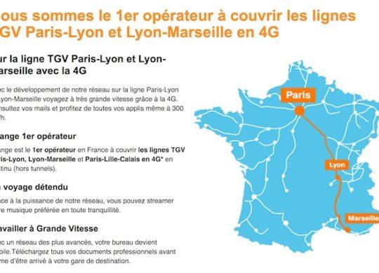 Orange 4G TGV Paris Marseille