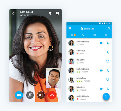 Skype Lite Android 488x450
