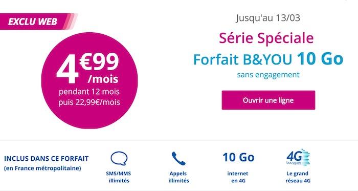 Bouygues Promo 4.99 Euros Mars 2017