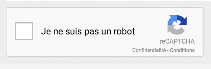 CAPTCHA Google Je Ne Suis Pas Un Robot