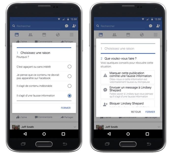 Facebook Fausse Information Comment Signaler