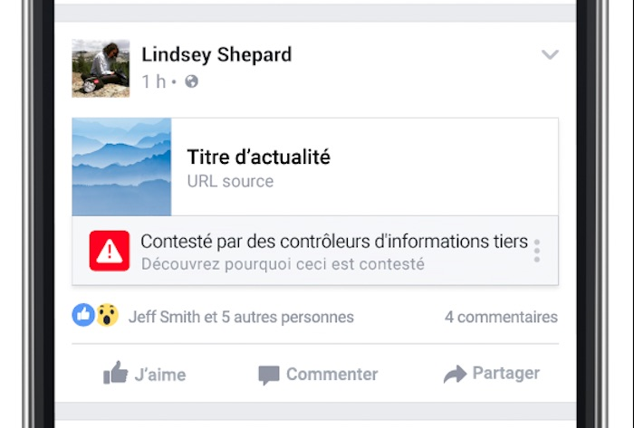 Facebook Fausse Information Pictogramme