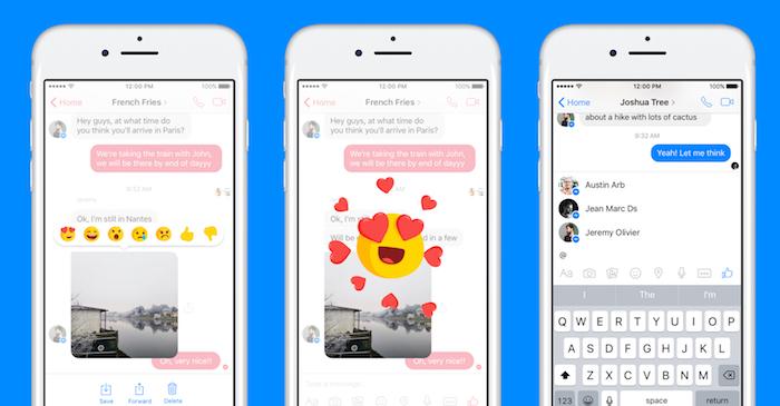 Facebook Messenger Reactions Mentions