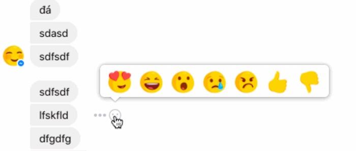 Facebook Messenger Reactions Test