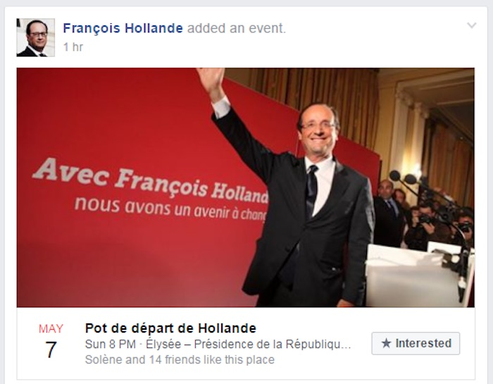 Facebook Piratage Page Francois Hollande