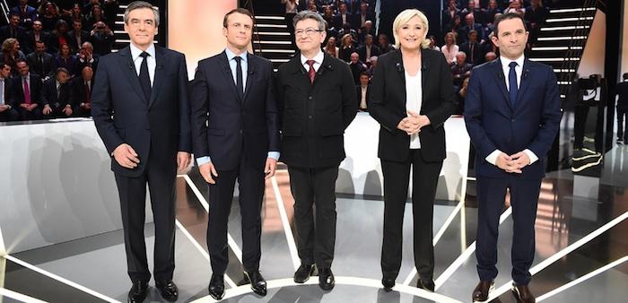 Fillon Macron Melenchon Le Pen Hamon
