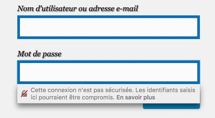 Firefox 52 Message Mot De Passe Page HTTP