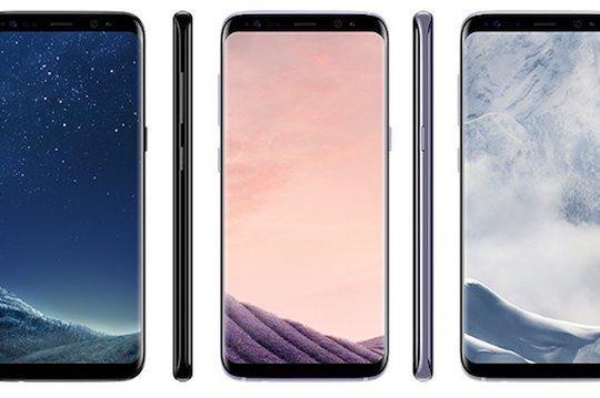 Galaxy S8 Avant Noir Gris Argent Officiel