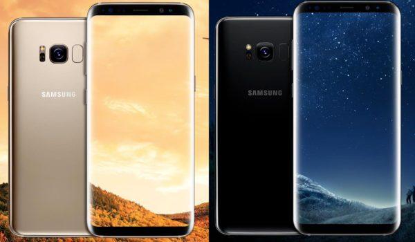 Galaxy S8 Officiel Avant Arriere Or Noir 600x350