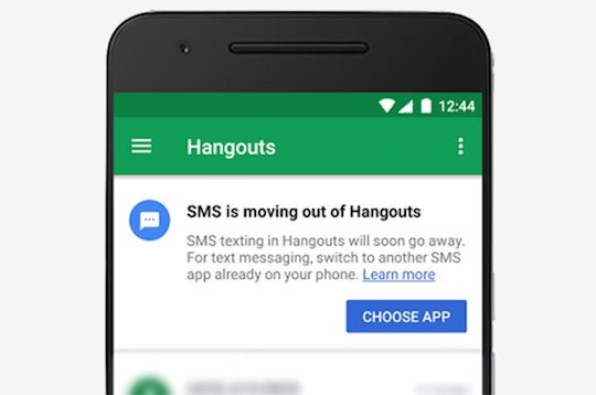 Hangouts Abandon Support SMS