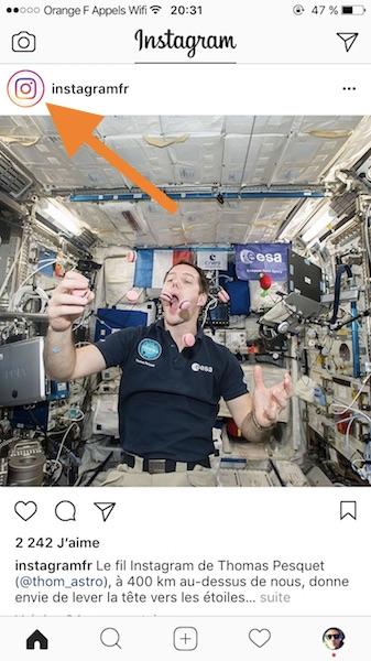 Instagram Stories Raccourci Profil 1