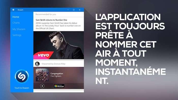 Shazam Application Windows 10