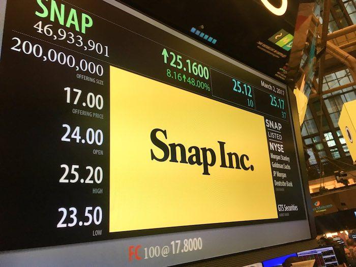 Snap Bourse Debut