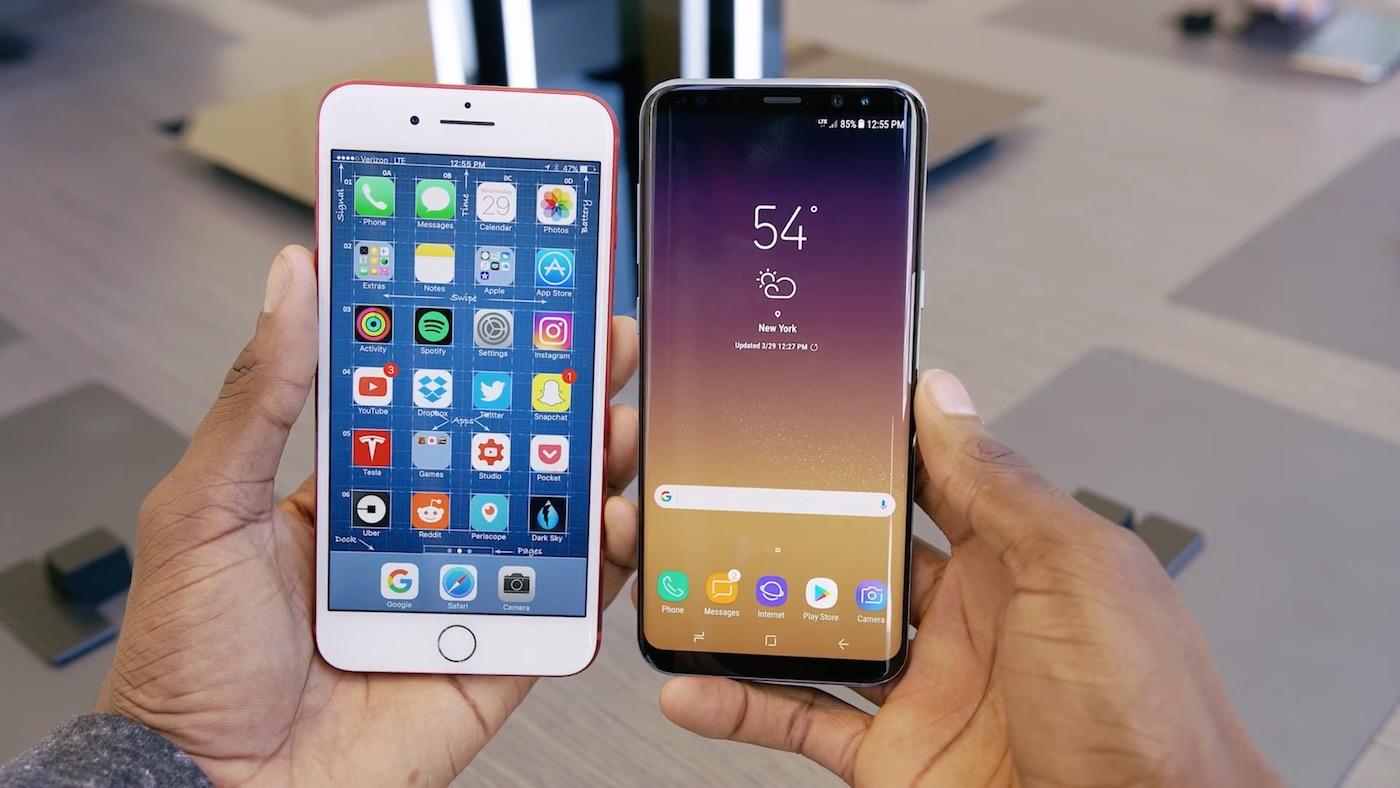 IPhone 7 Plus Galaxy S8 Plus