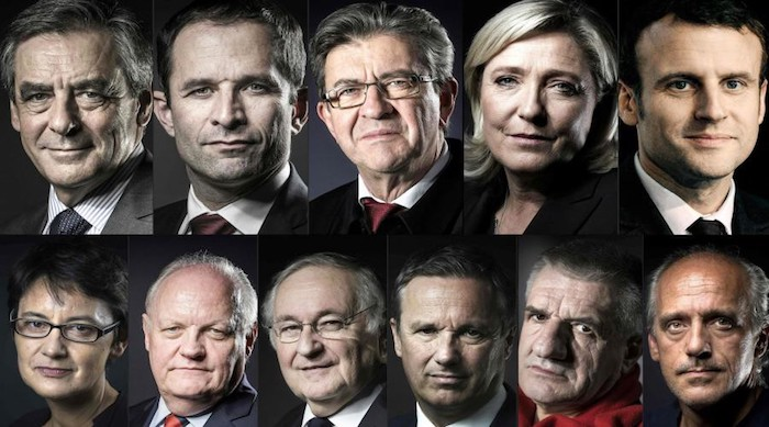 Candidats Election Presidentielle 2017