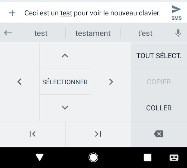 Clavier Gboard Android Fleches