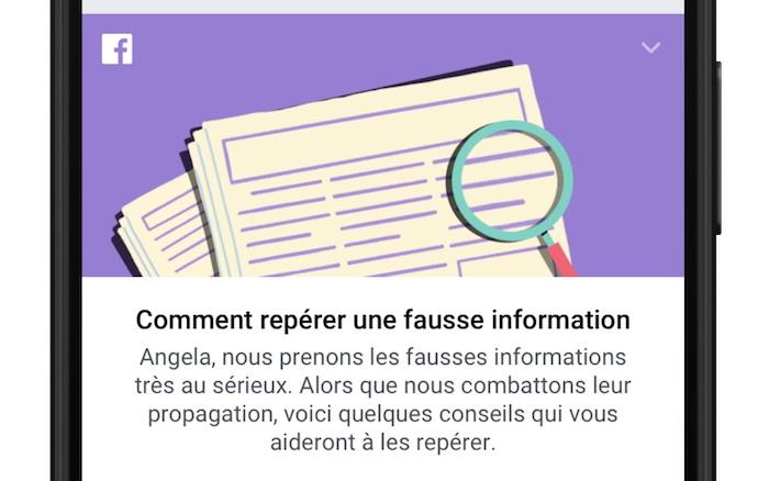 Facebook Reperer Fausse Information