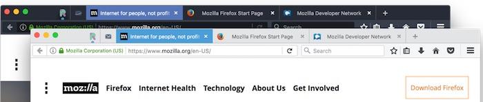 Firefox 53 Nouveaux Themes Sombre Claire