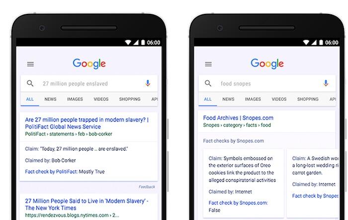 Google Fact Checking Moteur Recherche