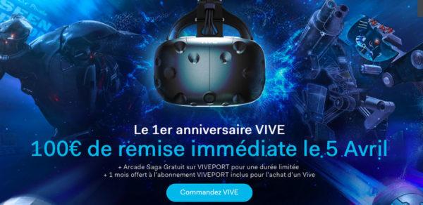 HTC Vive Remise Anniversaire 600x292