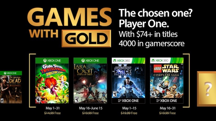 Xbox Live Gold Jeux Offerts Mai 2017