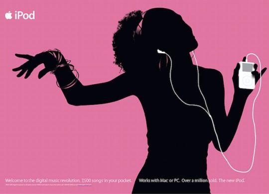 Ancienne Publicite iPod Ombre