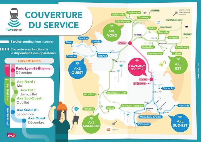 Carte SNCF Deploiement WiFi