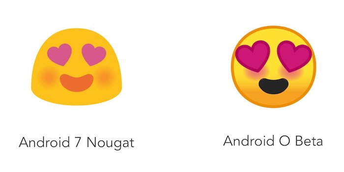 Emoji Android Nougat Vs Android O