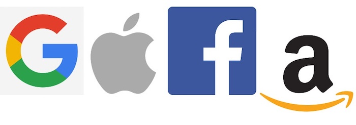 Google Apple Facebook Amazon GAFA Logos