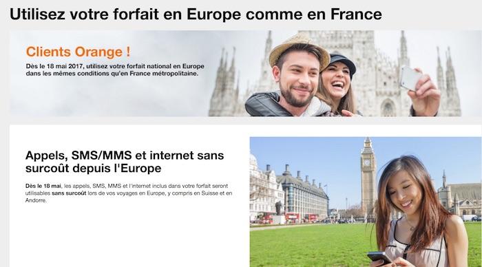 Orange Forfait Utilisable Europe