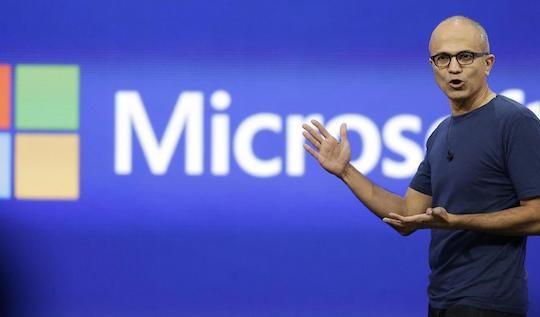 Satya Nadella Microsoft Logo