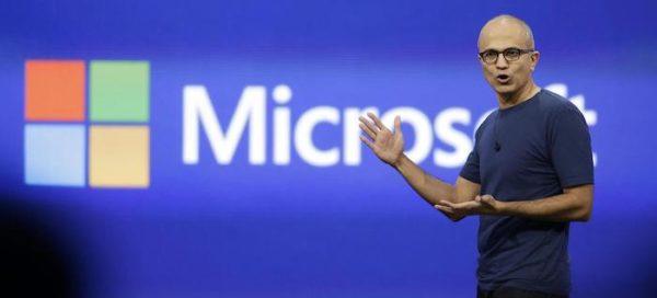 Satya Nadella Microsoft 600x272