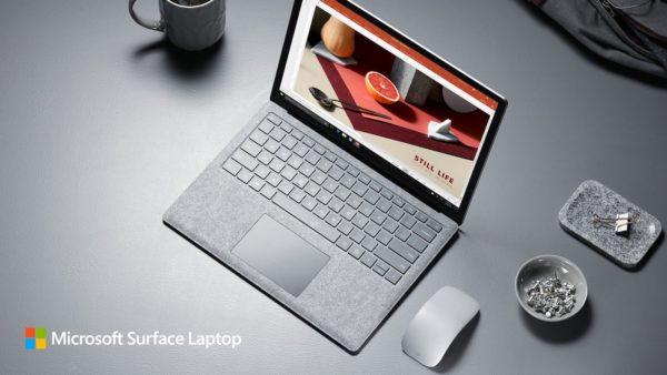 Surface Laptop Et Souris Gris 600x338
