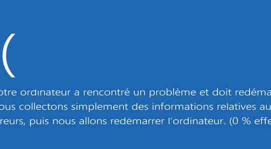 Windows 8 Ecran Bleu