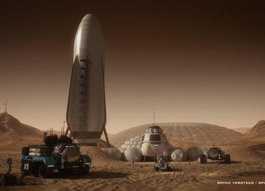 BFR spaceX Mars