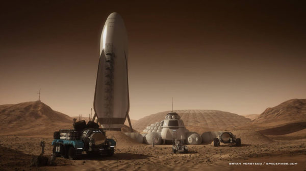 BFR SpaceX Mars 600x337
