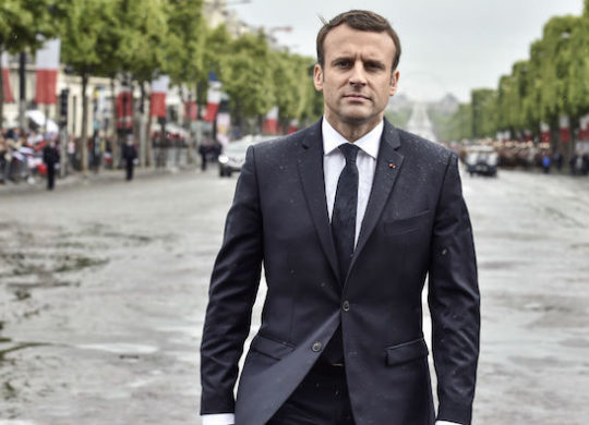 Emmanuel Macron Champs Elyseees