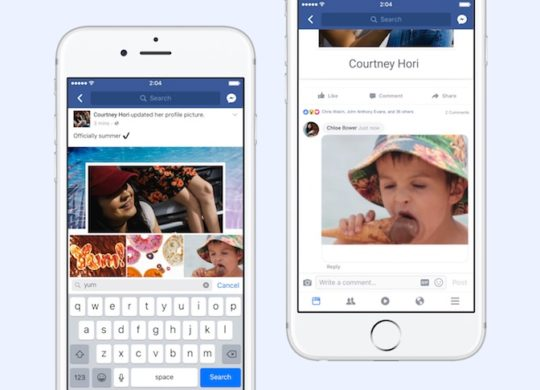 Facebook GIF Commentaire