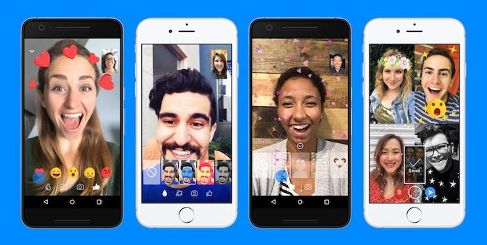 Facebook Messenger Appels Video Reaction Filtres Effets