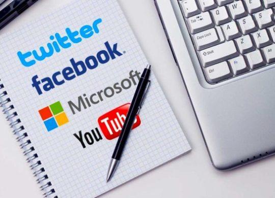 Facebook Twitter Microsoft YouTube Logos