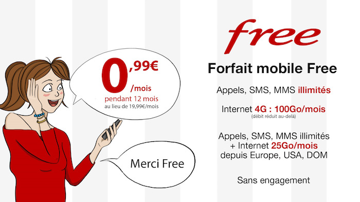 Free Mobile Promo 99 Centimes Juin 2017