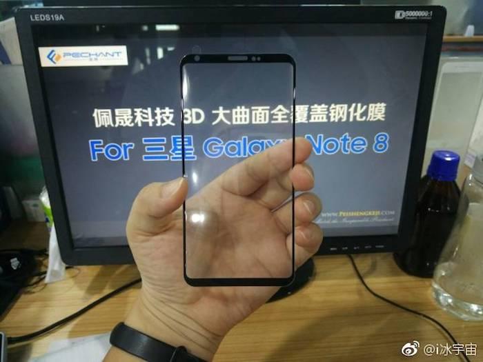Fuite Vitre Galaxy Note 8