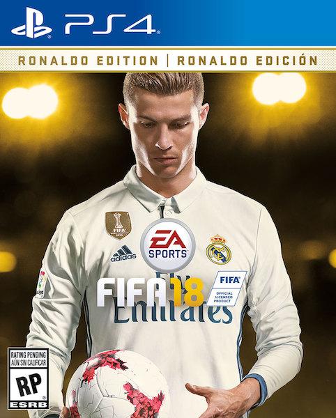 Jaquette FIFA 18 Ronaldo