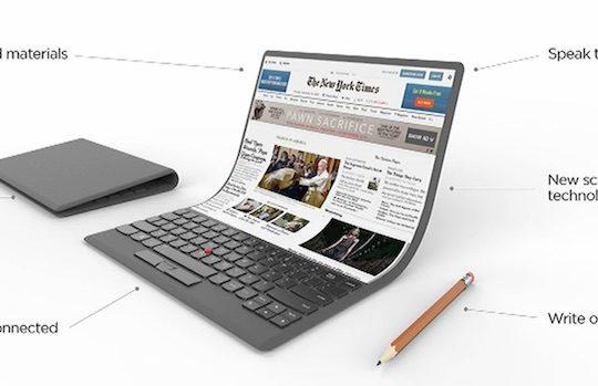 Lenovo Concept Ordinateur Portable Ecran Flexible