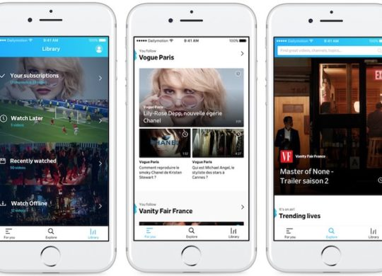 Nouvelle Application Dailymotion 2017