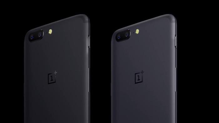 OnePlus 5 Arriere Noir Gris